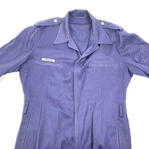 Vintage Military Flight Suit Coveralls Blue